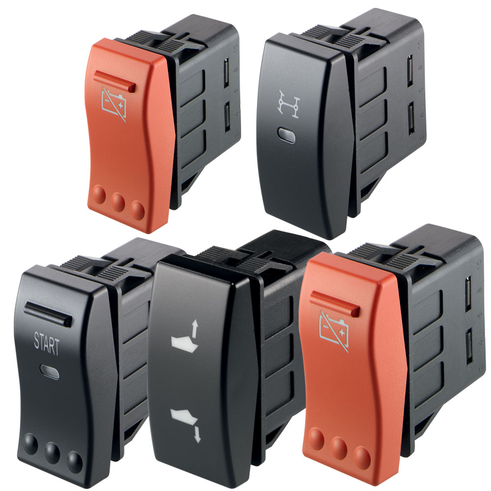 Marquardt Single and Double Pole Rocker Switches - Series 3250