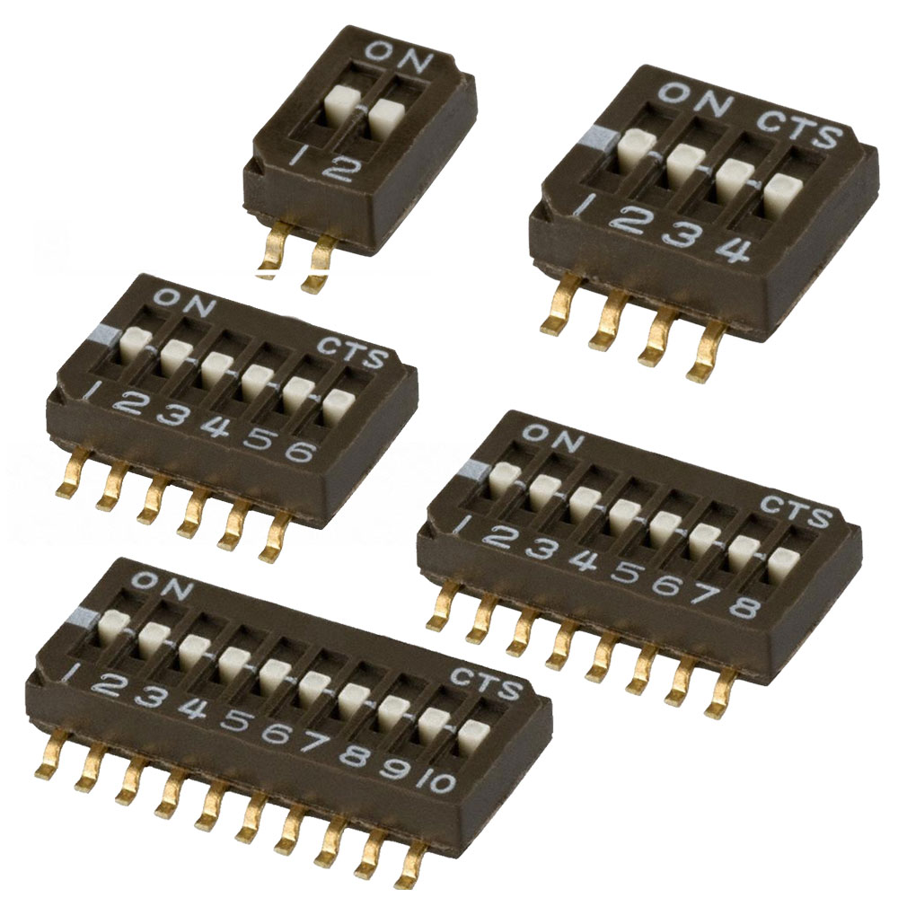 CTS Half Pitch Dip Switch 218 Series