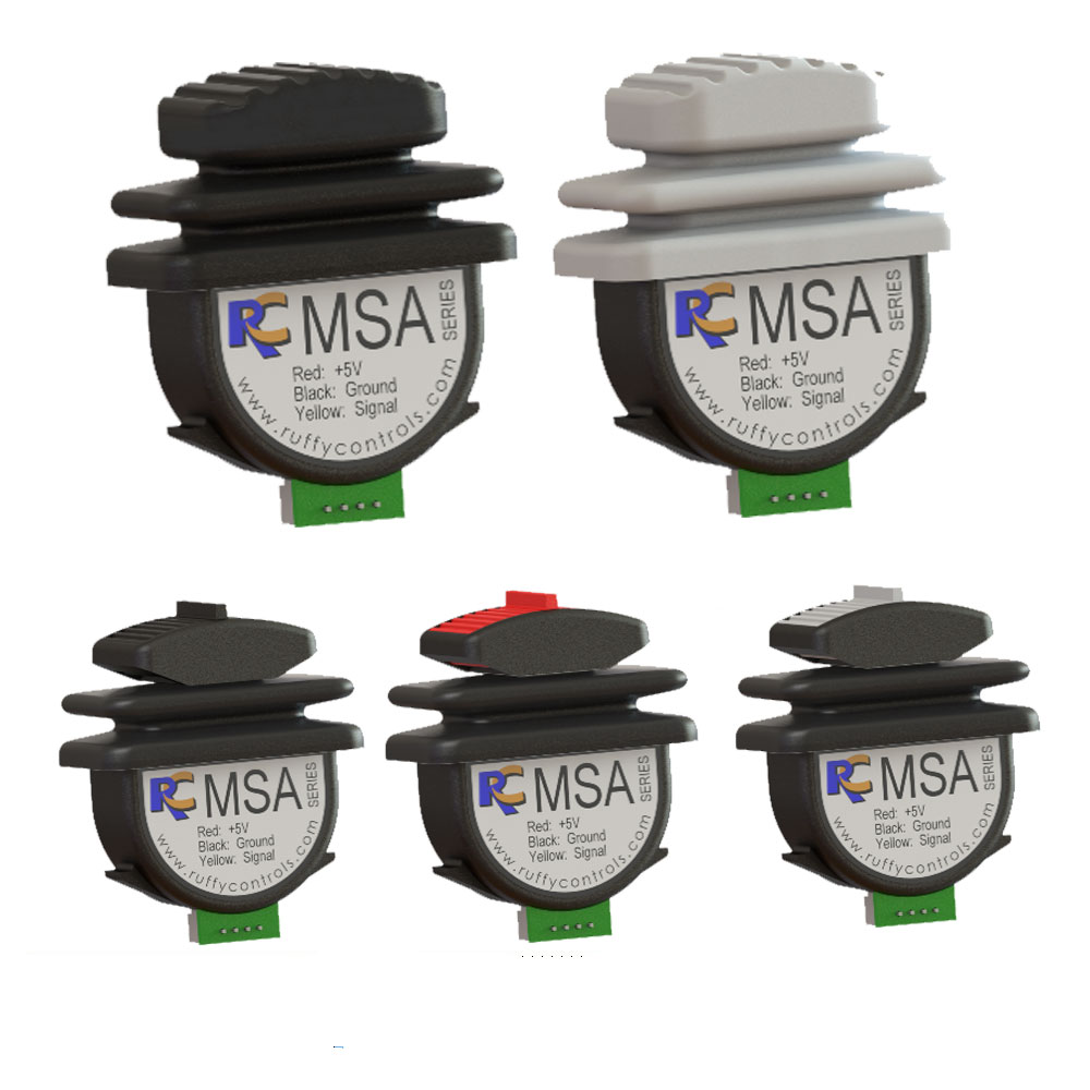 Ruffy MSA Micro, Single Axis Hall Effect Thumb Controller Range